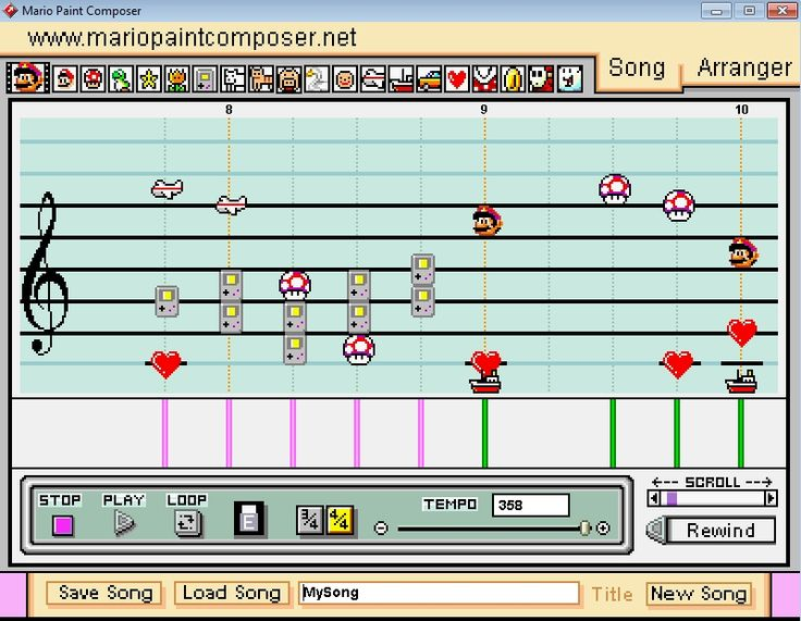 Mario Paint Composer free music making software. http://www.vstplanet.com/News/2015/Mario-Paint-Composer-free-music-making-software.htm