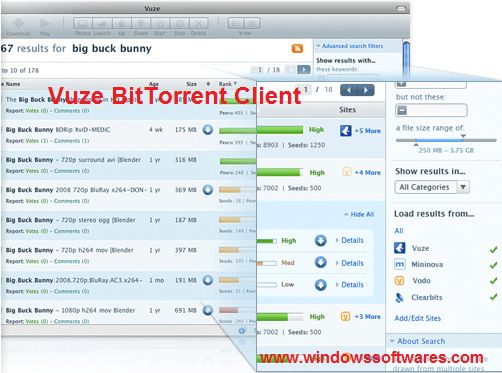 Vuze BitTorrent Client Features: Easy-to-use interface.  #BitTorrent #FreeDownload #Download