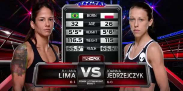joanna Jedrzejczyk vs Juliana Lima Full Fight UFC 185