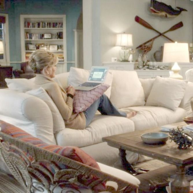Grace And Frankie Beach House Steal The Look! - Hello Lovely | Coastal Living Rooms, Home Decor, Living Decor