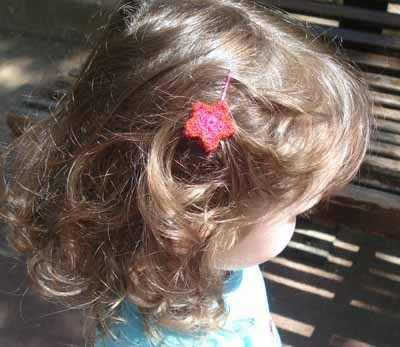 crochet flower for her hair