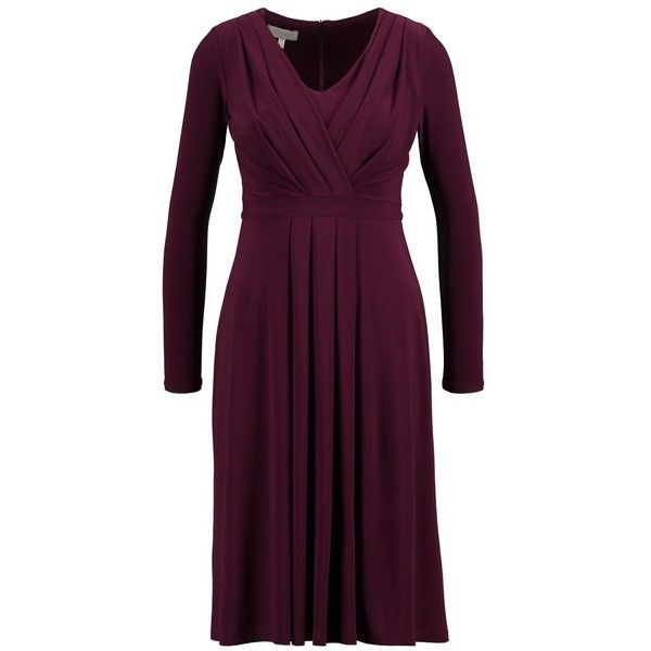 Hobbs DRESS Jersey dress ($165) ❤ liked on Polyvore featuring dresses, purple dresses, hobbs, purple jersey dress, purple jersey and hobbs dresses