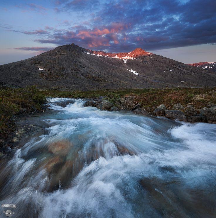 Гора Тахтарвумчорр, река Лутнармайок, Хибины