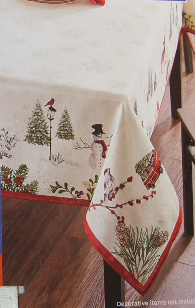 New Better Homes Gardens Heritage Collection Holiday Tablecloth 60 X 102 And Tablecloths