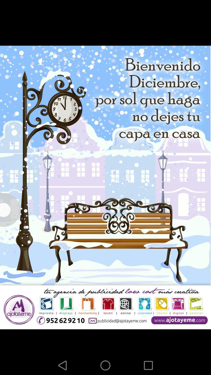 """#Feliz #Viernes #AjotAstuto, bienvenido #Diciembre, por sol que haga no dejes tu capa en casa... Te dejo pensando y con la fantasía de #Navidad esperando... Mantén firme la filosofía de las """"3 P's"""". Saludos virtuales desde #Malaga y que pases un feliz #Finde.  Por cierto, queremos llevar nuestros diseños a todos los puntos de #España. #Toledo #Tarragona #Teruel #Valencia #Valladolid #Vizcaya #Zamora #Zaragoza... Por eso, para cualquier necesidad en #Camiseta #Creatividad #DiseñoGrafico…"""