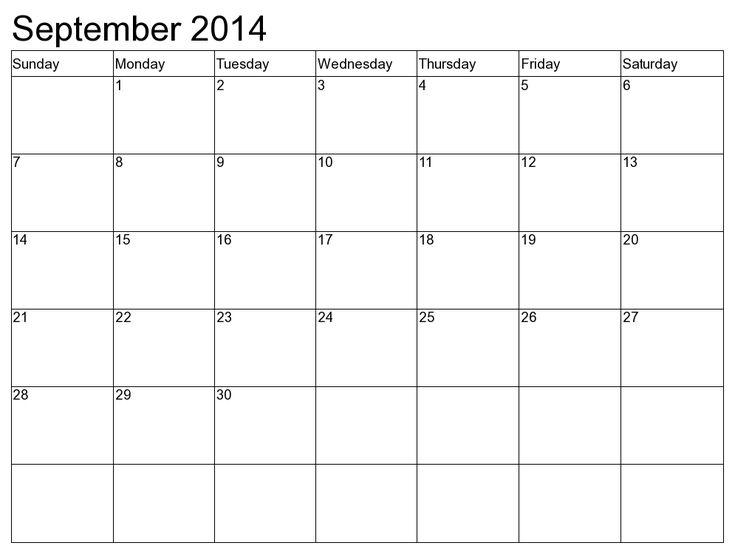 The 25+ best September 2014 calendar ideas on Pinterest Calendar - calendar templates for kindergarten