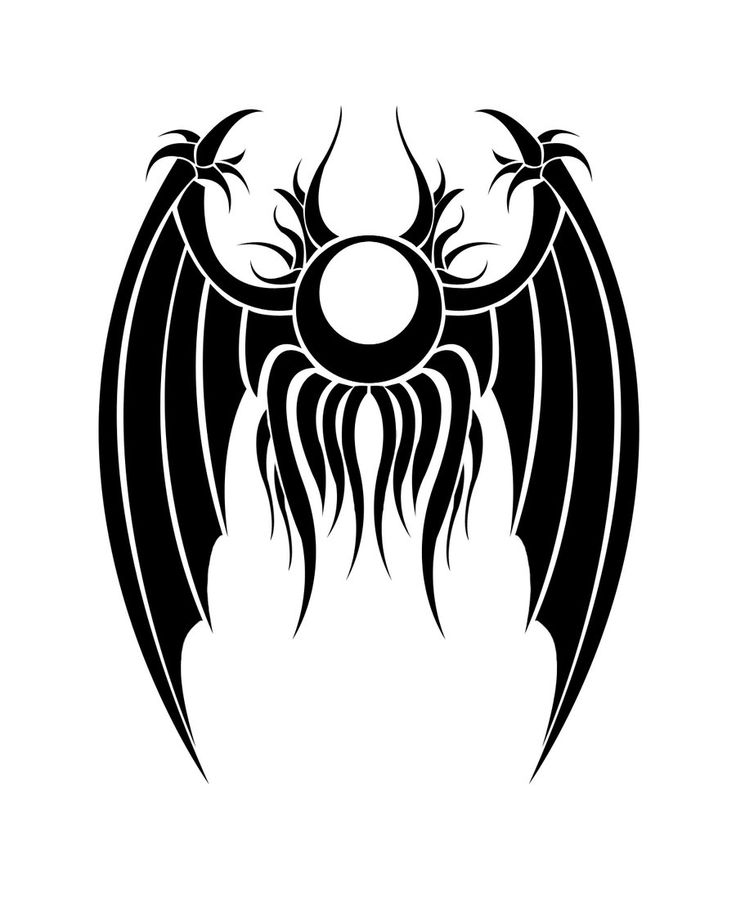 Tribal Batman Symbol Tattoos Ulquiorra closed wing tattoo
