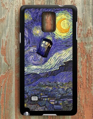 Stary Night Tardis Police Box Samsung Galaxy Note 4 Case