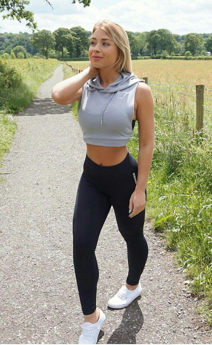 Workout Run Girl Leggins Sexet kjole til at svede træning-6867