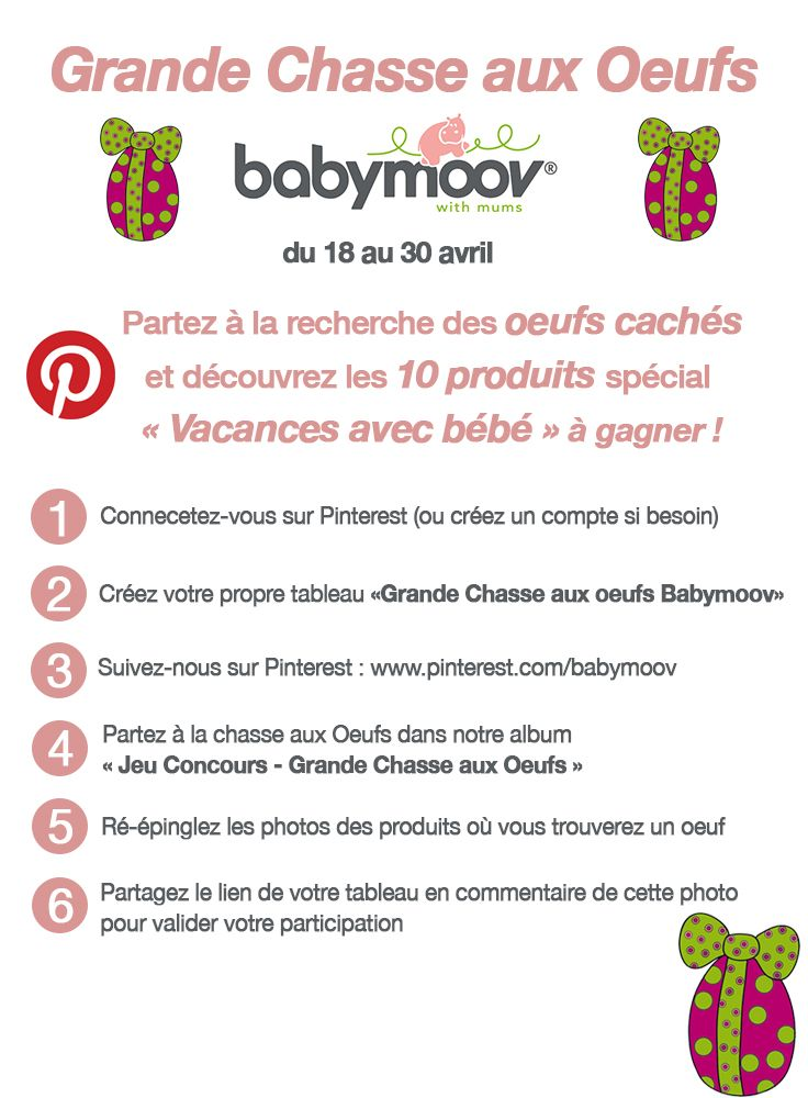 Grande Chasse aux Oeufs Babymoov #jeuconcours