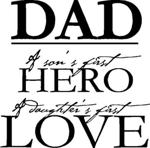 Dad - a son's first hero, a daughter's first love. Think I'm going to put this in the middle of a 3-section frame with pictures of the kids for Brian for Christmas. I think it'd look great in his office!