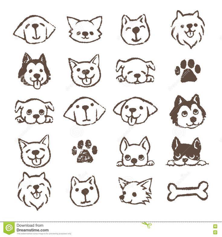 Hund #icon #set #stock #illustration. #Illustratio…