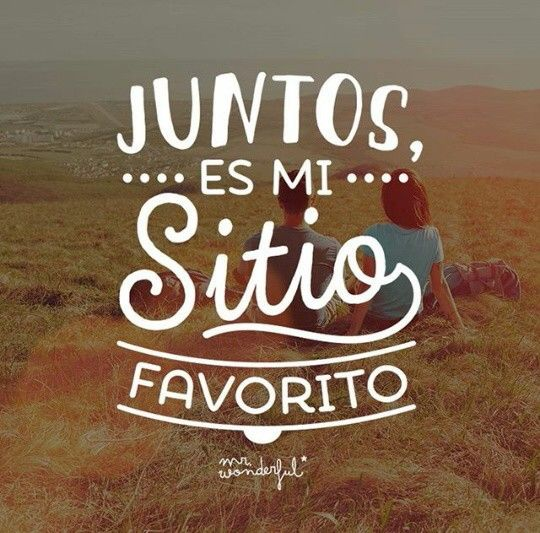 Mr. Wonderful. Juntos es mi sitio favorito.