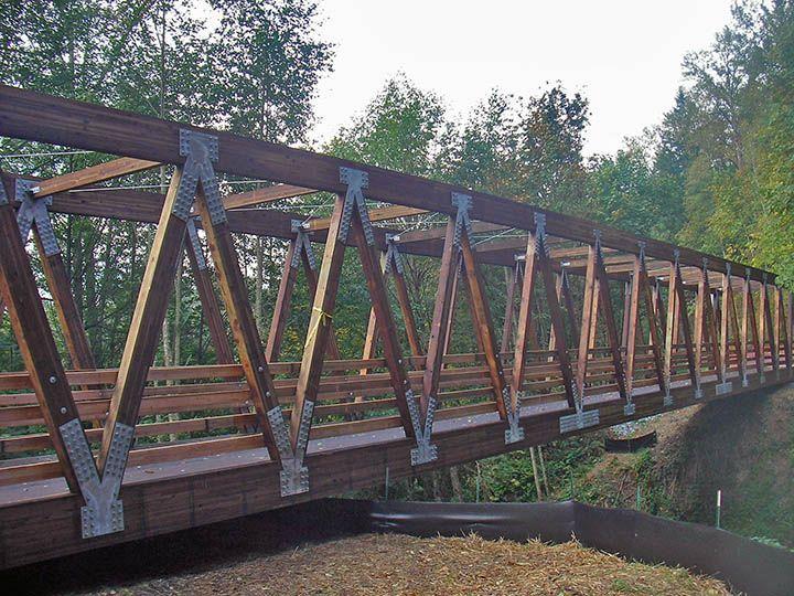 Wooden Pedestrian Bridge Design Truss Bridge Bridge