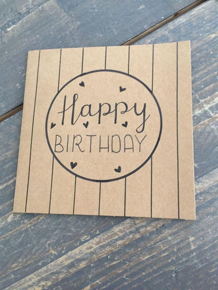 25 + › 25 +> HANDBUCHSTABE – Geburtstagskarte – Alles Gute zum Geburtstag