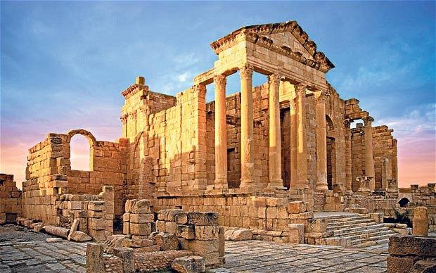 Roman ruins at Carthage, Tunisia