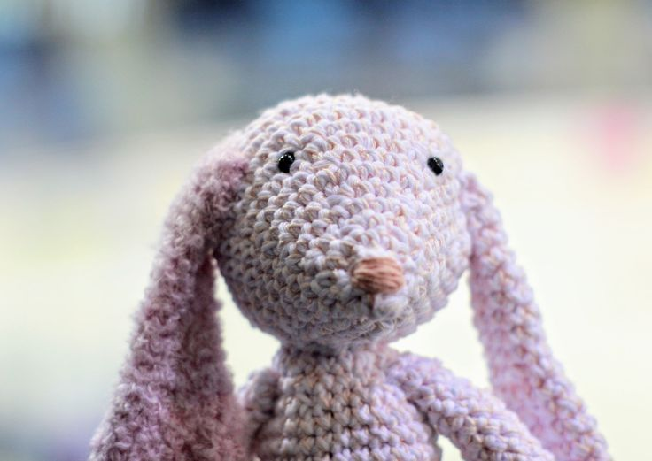 Pinky - crocheted fluffy bunny by OVIKTORIAshop on Etsy