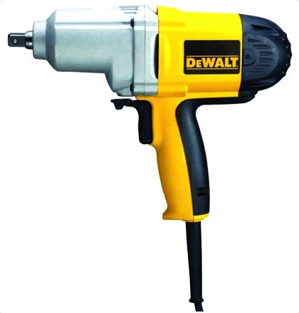 """Dewalt DW292 Impact Wrench     345 ft-lbs of deliverable torque in forward and reverse     1/2"""" detent pin anvil     AC/DC forward/reverse rocking switch     Soft grip handle for increased comfort     Ball bearing construction for increased durability For More Details: http://www.mrthomas.in/dewalt-dw292-impact-wrench_445"""