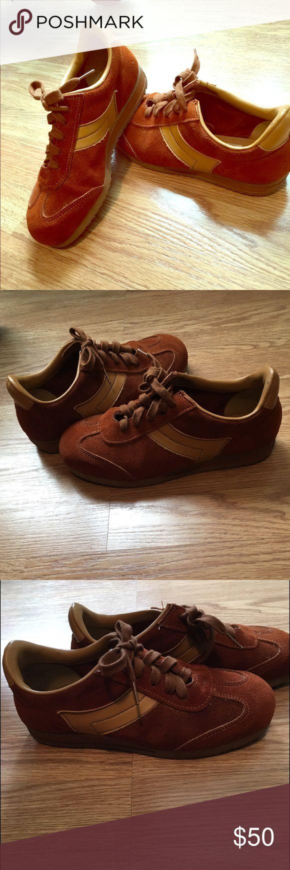 Ward vintage sneakers ** women's size 8.                                                      ** men's size 6.                                                         Cinnamon brown leather sneaker ward Shoes Sneakers