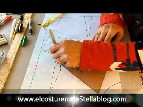 El costurero de Stella-Trazo y corte del basico de la blusa. Instrucciones detalladas para crear pinzas y buen ajuste en el busto y manga
