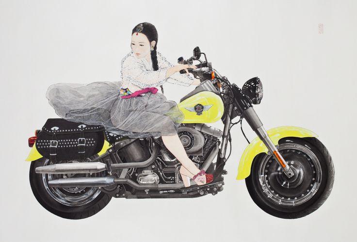 Feign:Where is your rainbow? #Illustration #Exhibition #watercolor #work # image #OrientalPainter #tradition #foreigner #gift #BackgroundScreen #Korea #oriental #asia #KoreanPainting #modernArt #Popart #PopArtist # person #FigurePainting #PortraitPainter #Amusementpark #Gallery #Dress #accessory #AmusementPark #KimHyunJung #art #artist #oriental #orientalart #fineart #popart #Korean #painting #painter #hanbok #traditional #clothes #collage