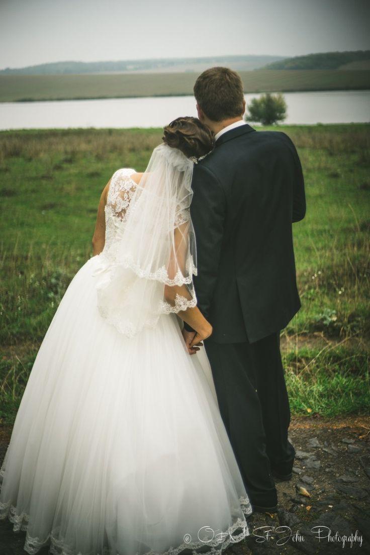 Cousin's wedding in Ukraine. Bride and groom
