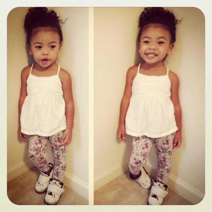 floral pants is adorable on little girls