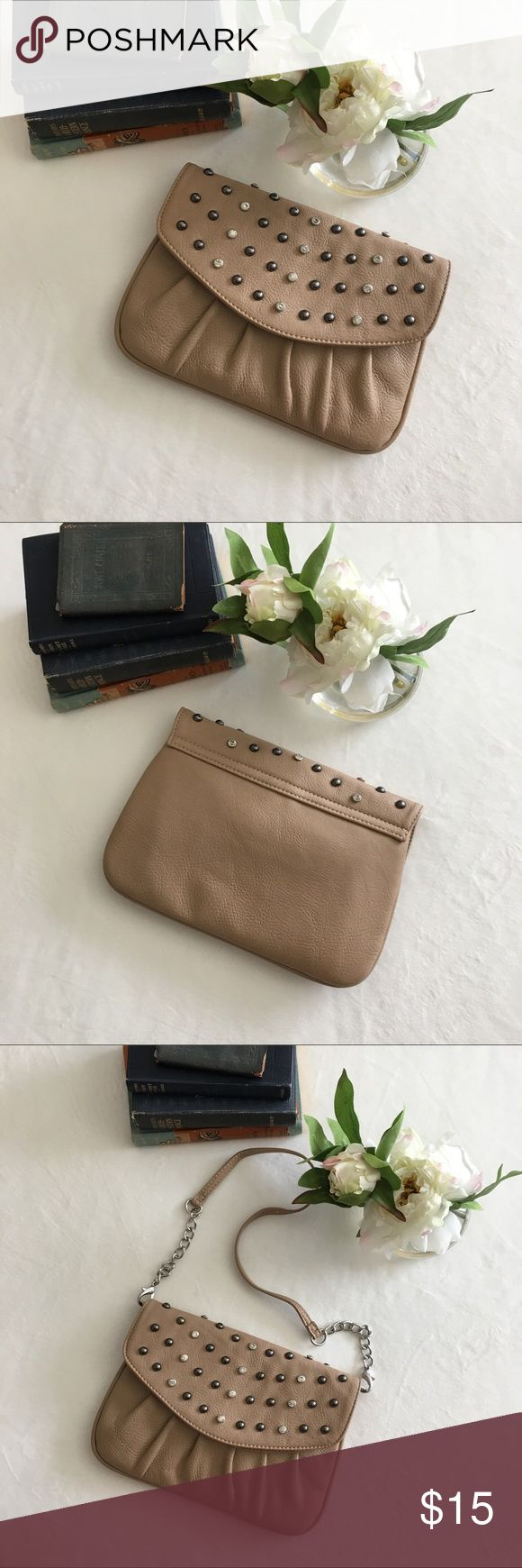 Grace Adele Jeweled Tan Clutch, Wristlet, Purse Grace Adele Jeweled Tan Clutch, Wristlet, Purse  •Excellent condition Bags