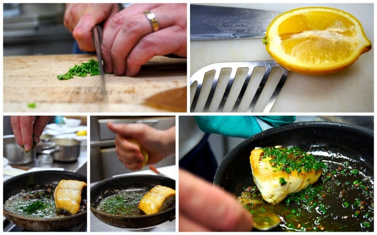 Remove from oven to add herbs and lemon juice, and bast with a spoon.