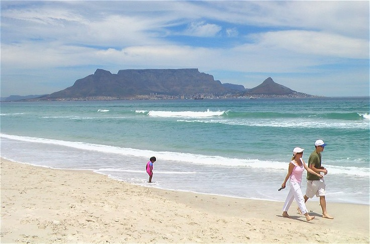 The best view of Table Mountain is from Bloubergstrand - Cape Town.