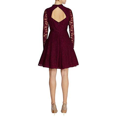 Buy Coast Arabella Lace Dress, Mulberry Online at johnlewis.com