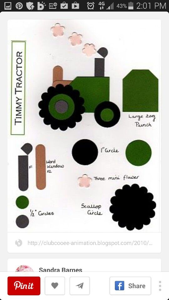 53 best Tractor punch art cards images on Pinterest   Tractors, Kids ...