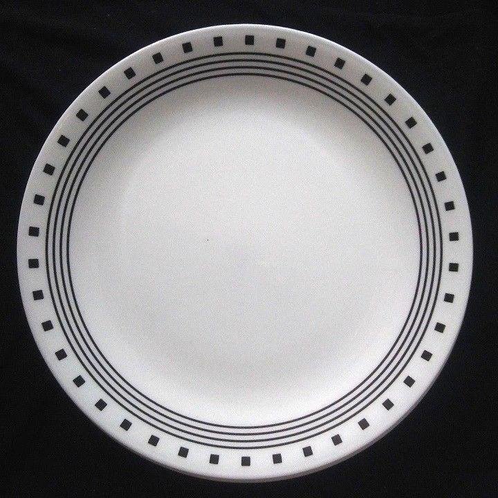 Corelle City Block Dinner Plates Set of 8 White Black Corningware 10.25 Inches & 13 best Corelle Dinnerware images on Pinterest | 1 Blue dinner ...