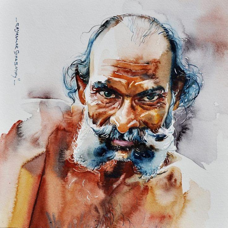 Faces on Watercolor - Rajkumar Sthapathy