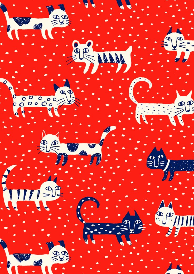 pattern by Minakani #cat #pattern #minakani