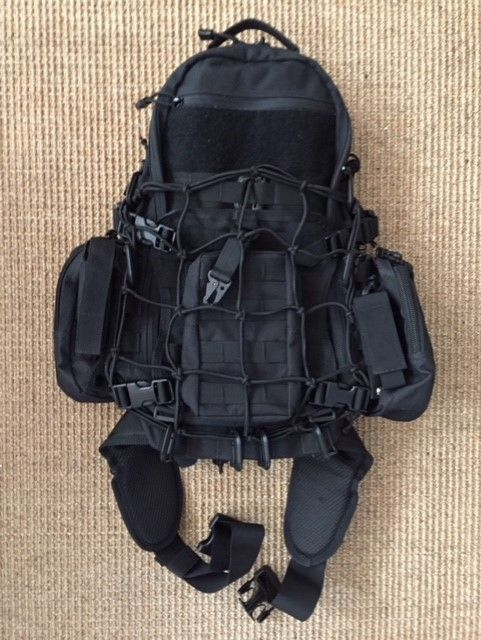 Mods so far - side pouches, front pouch, Bungie net, hip belt, various clips and carabiner's.  #tad #edc #litespeed #backpack #tactical