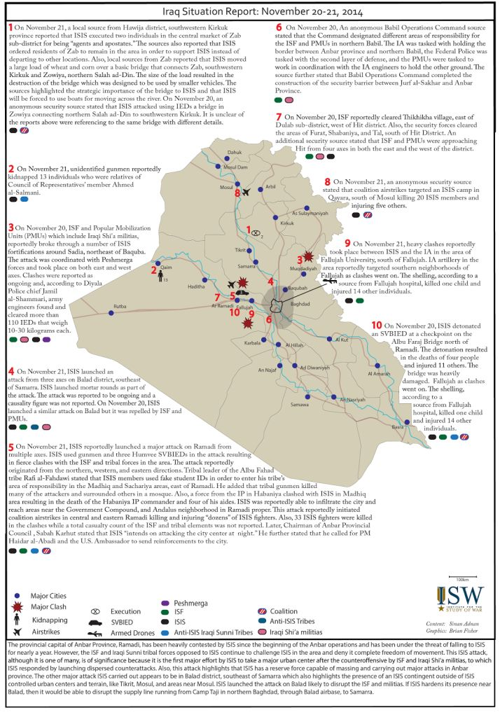 A Detailed Iraq Situation Report For The Th And St November