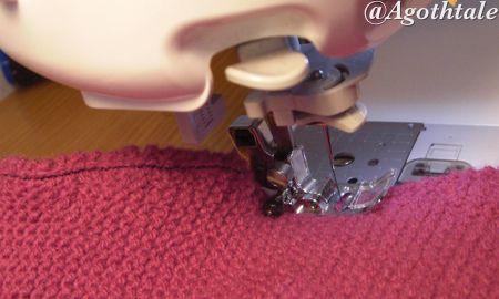 coudre son tricot à la machine à coudre