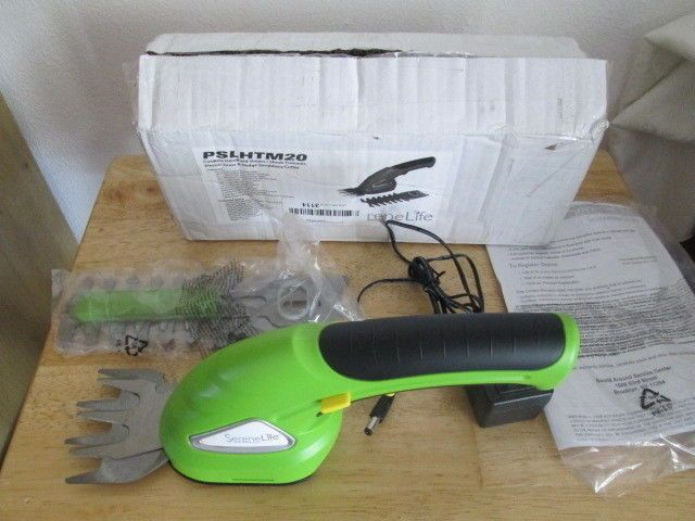 SereneLife PSLHTM20 Cordless Handheld Grass Cutter Shears, Electric Hedge 3.6V. New Open Box. Please See Pictures for condition. Please ask all questions before buying.