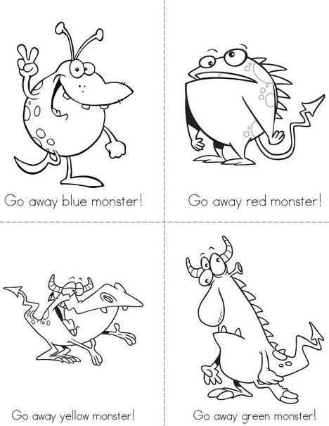 Go Away Monster! Mini Book from TwistyNoodle.com