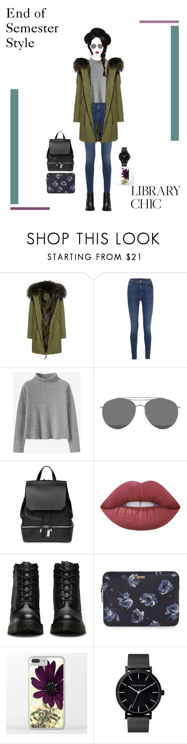 """""""End of Semester Style #1"""" by nello-hope on Polyvore featuring Mr & Mrs Italy, J Brand, Gentle Monster, COSTUME NATIONAL, Dr. Martens and Kate Spade"""