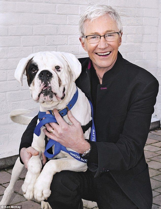 Paul O'Grady with his adopted Boxer.