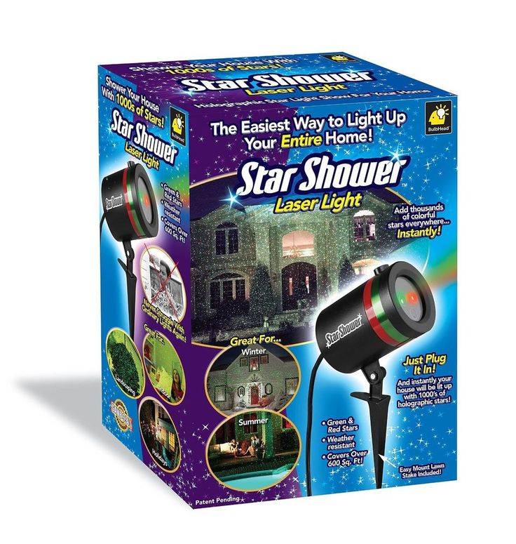 Outdoor Laser Christmas Lights Star Shower Projector Weather Resistant Color NEW #StarShower
