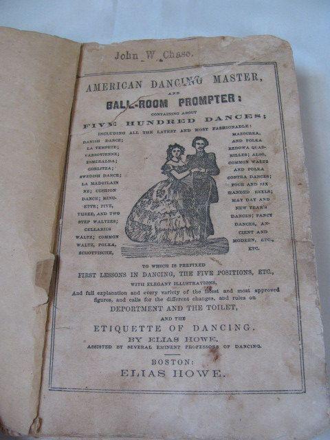 Civil War dance manual by Elias Howe. 1862