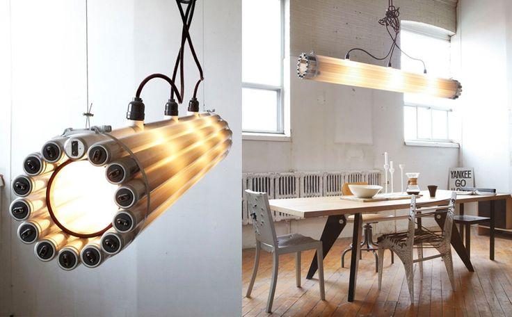 gerecycleerde verlichting van tl-lampen
