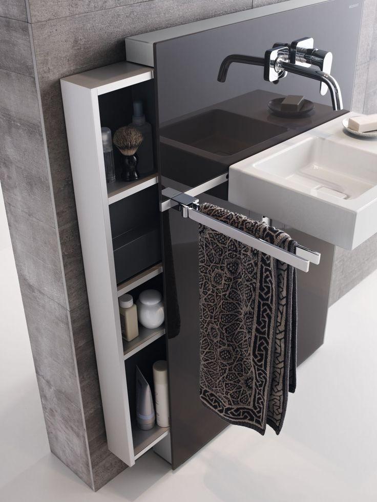 Geberit Monolith lavabo modülü, iç mekanlarda mükemmel bir tasarım özgürlüğü sunar.