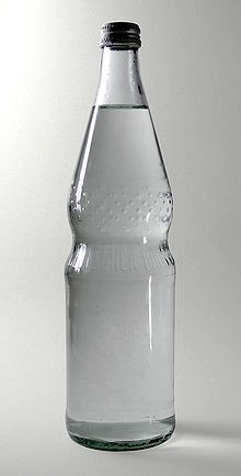 Typical German waterbottle, designed in Kassel