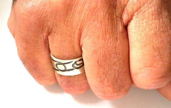 Men silver ring – Men's Modern Ring – Braided #jewelry #ring @EtsyMktgTool #mens…   – Handmade Jewelry