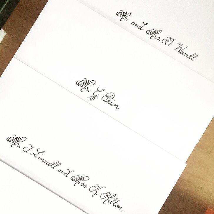 handwrite or print wedding invitation envelopes%0A Stylish Addressing Envelopes Handwritten in Calligraphy  Wedding Invitation   Christmas cards  Christening  etc