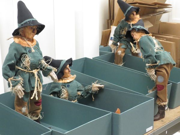 R. John Wright Dolls - Production  The following photos were taken during production of Scarecrow from the Wizard of Oz™ collection  Each doll finds its own numbered box #RJWDolls #RJohnWrightDolls #CollectibleDolls